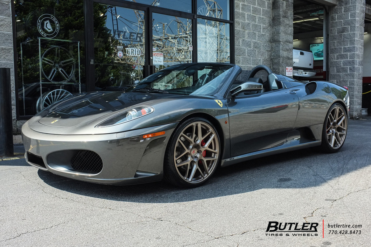 Ferrari F430 With 21in Vossen Vps 315 Wheels Exclusively From Butler Tires And Wheels In Atlanta Ga Image Number 10653