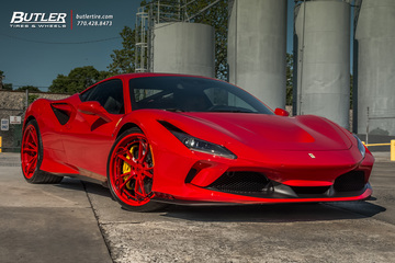 Ferrari F8 Tributo with 22in AG Luxury AGL47 Wheels