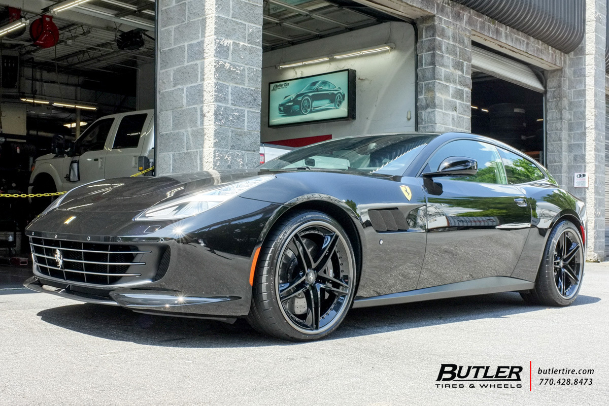 Ferrari GTC4 Lusso with 21in HRE S207 Wheels
