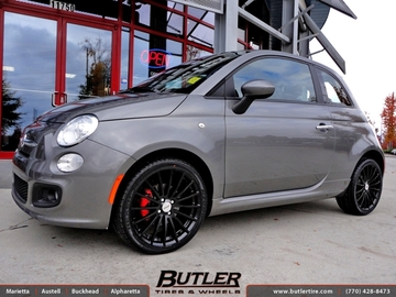 Fiat 500 with 17in TSW Mallory Wheels