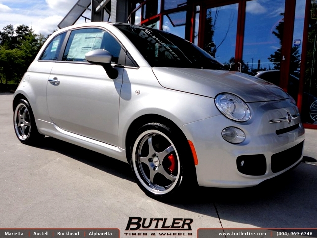 Fiat 500 with 17in TSW Volcano Wheels