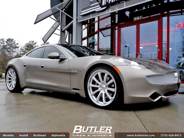 Fisker Karma with 22in Lexani CVX 55 Wheels