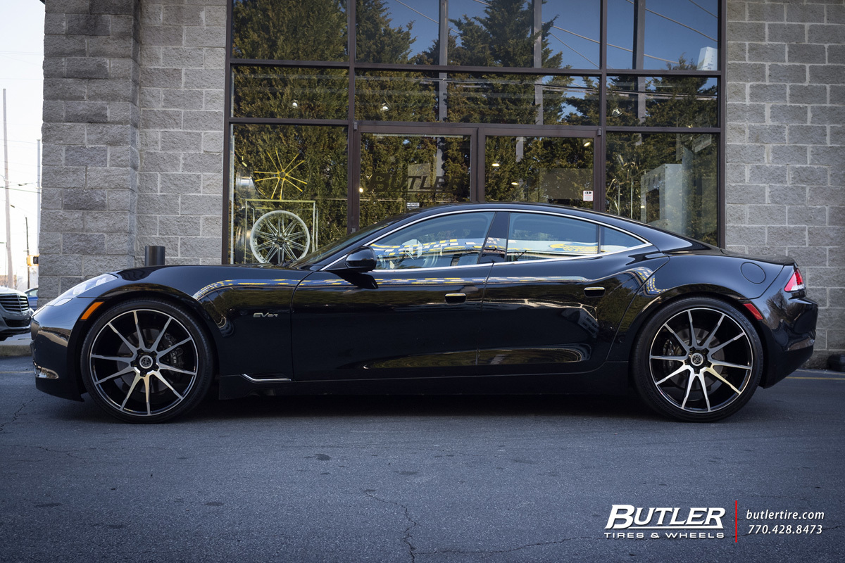 Fisker Karma With 22in Savini Bm12 Wheels Exclusively From