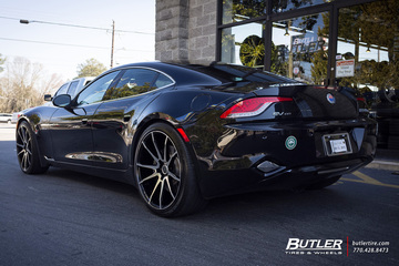 Fisker Karma with 22in Savini BM12 Wheels