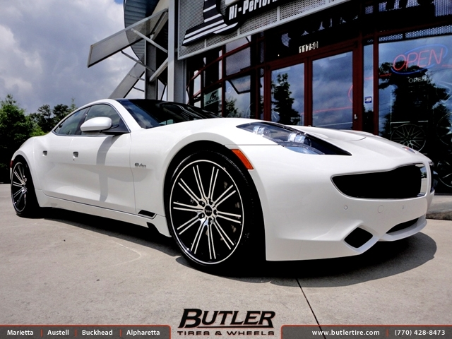 Fisker Karma with 22in Savini BM3 Wheels