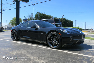 Fisker Karma with 22in Savini SV-F 3 Wheels