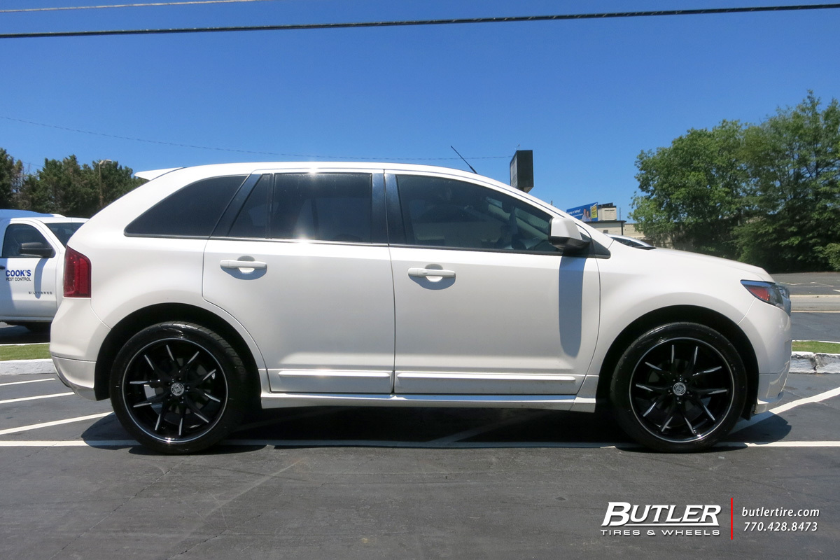 Ford Edge with 22in Lexani R-Twelve Wheels exclusively ...