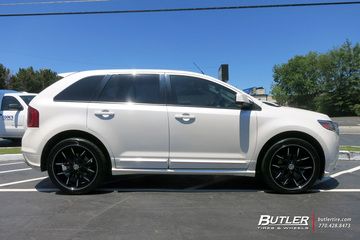 Ford Edge with 22in Lexani R-Twelve Wheels