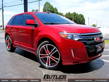 Ford Edge with 22in Savini BM6 Wheels