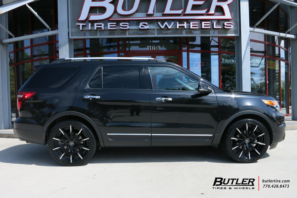 Ford Explorer with 22in Lexani CSS15 Wheels exclusively from Butler Tires and Wheels in Atlanta ...