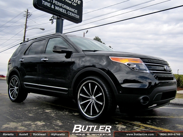 Ford Explorer with 22in Lexani CVX 55 Wheels