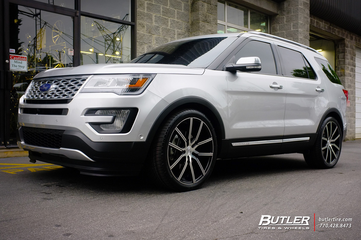 Ford Explorer Black Rims >> Ford Explorer with 22in Lexani Gravity Wheels exclusively from Butler Tires and Wheels in ...