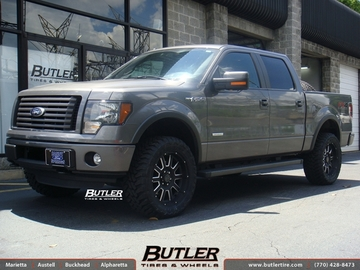 Ford F150 with 20in Black Rhino Armour Wheels