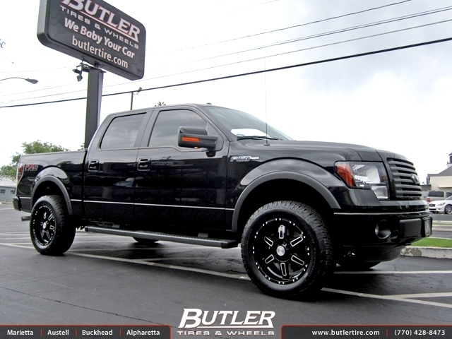Ford F150 with 20in Black Rhino Borrego Wheels