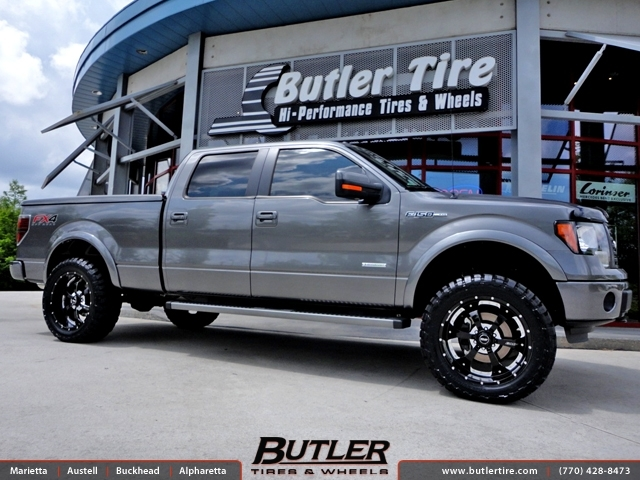 Ford F150 with 22in BMF Novakane Wheels