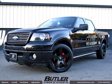 Ford F150 with 22in Black Rhino Everest Wheels