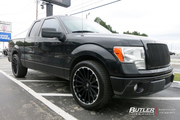 Ford F150 with 22in Black Rhino Spear Wheels