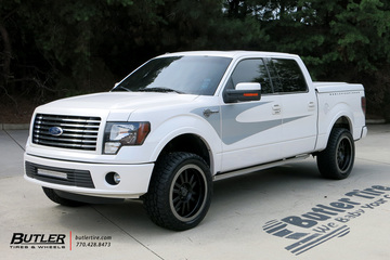 Ford F150 with 22in Black Rhino Tanay Wheels