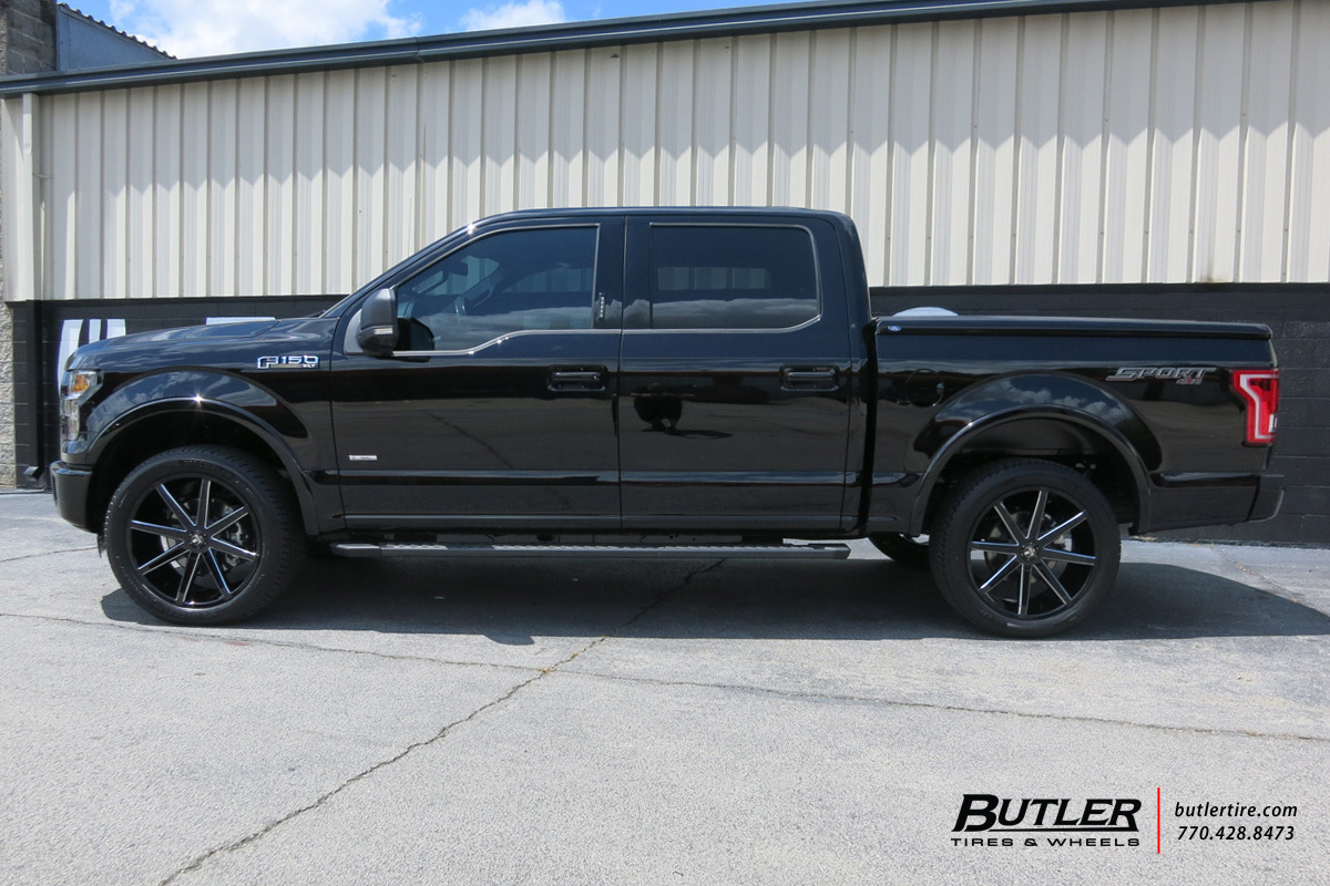 Ford F150 with 22in DUB Push Wheels exclusively from ...