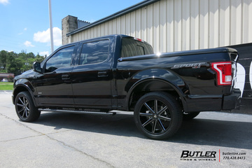 Ford F150 with 22in DUB Push Wheels