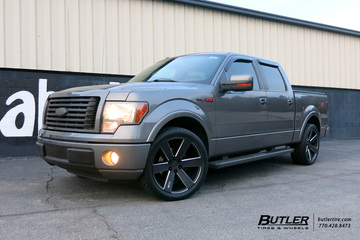 Ford F150 with 22in Foose Switch Wheels