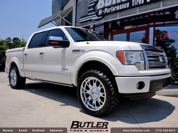 Ford F150 with 22in Fuel Throttle Wheels