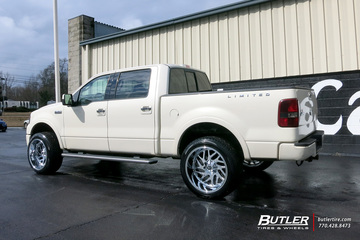 Ford F150 with 22in Fuel Triton Wheels