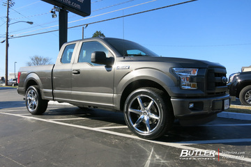 Ford F150 with 22in Lexani R-Six Wheels