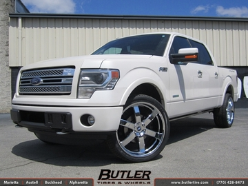 Ford F150 with 24in Black Rhino Pondora Wheels