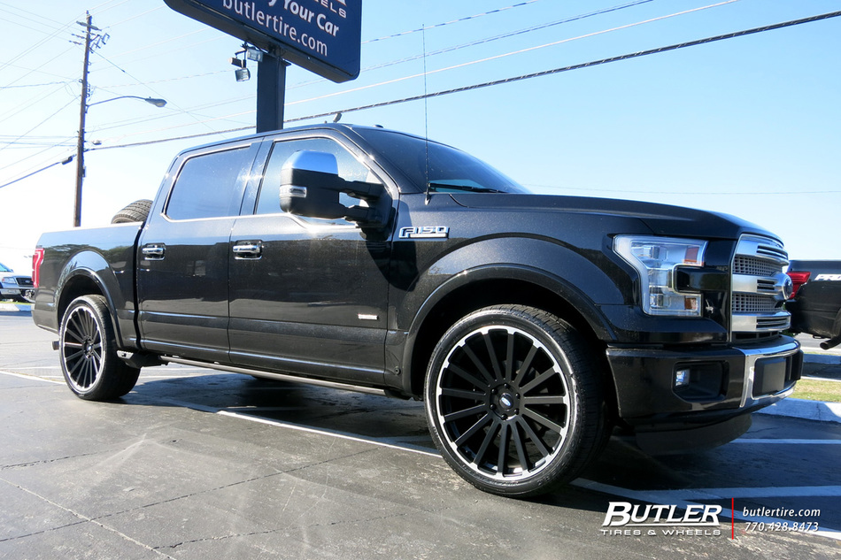 Ford F150 With 24in Black Rhino Spear Wheels Exclusively