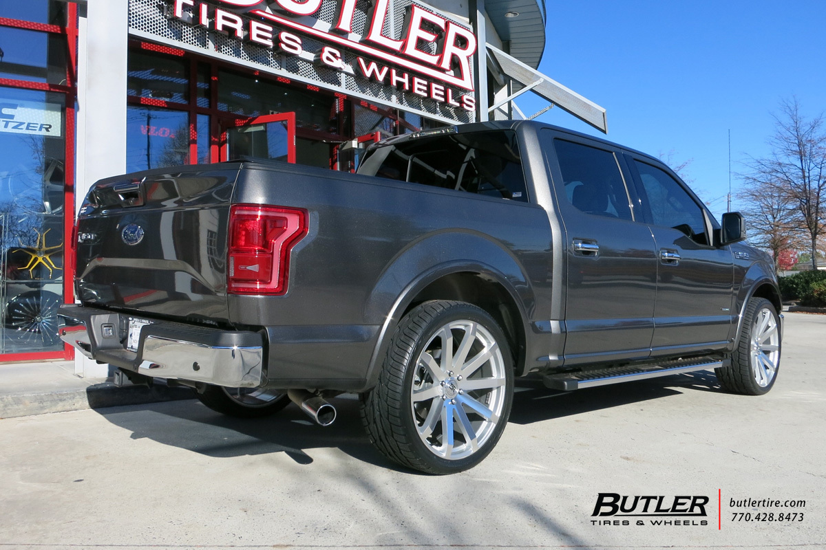 Ford F150 with 24in Black Rhino Traverse Wheels