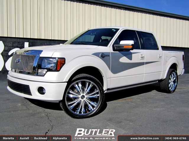 Ford F150 with 24in DUB Mamba Wheels