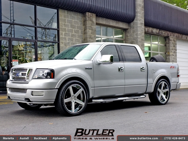Ford F150 with 24in Dub 1 Five Wheels