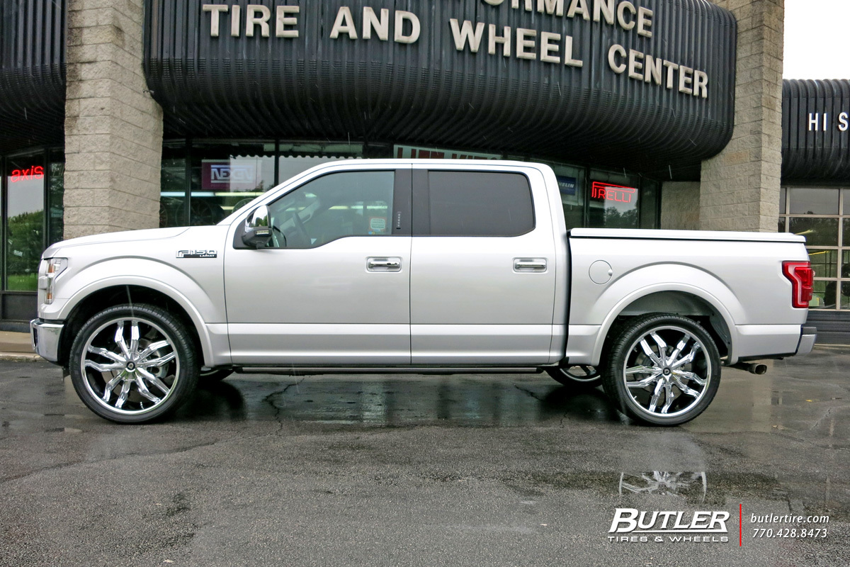 Ford F150 with 24in Lexani Arte Wheels