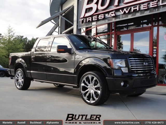 Ford F150 with 24in Lexani Lust Wheels