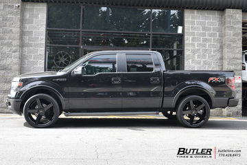 Ford F150 with 24in Status Empire Wheels