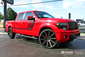 Ford F150 with 26in DUB Shot Calla Wheels