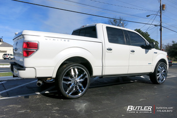 Ford F150 with 26in Lexani Arte Wheels