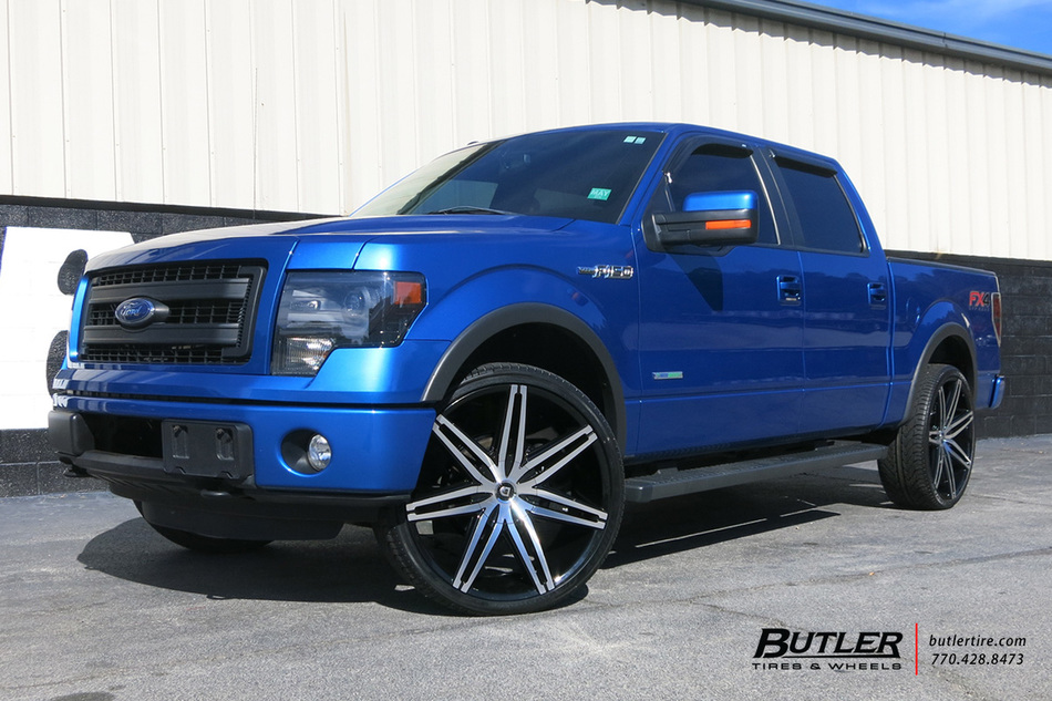 F150 Fender Flares >> Ford F150 with 26in Lexani Johnson II Wheels exclusively from Butler Tires and Wheels in Atlanta ...