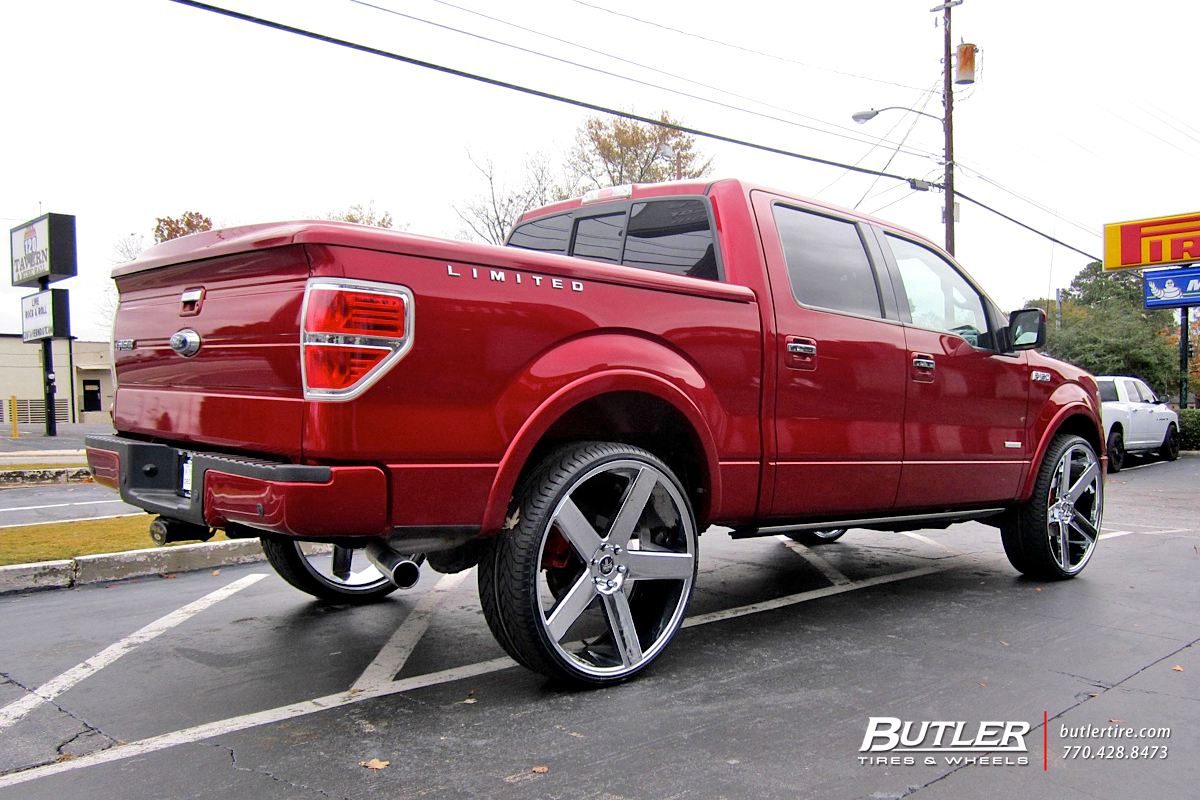 Ford F150 with 28in Dub Baller Wheels
