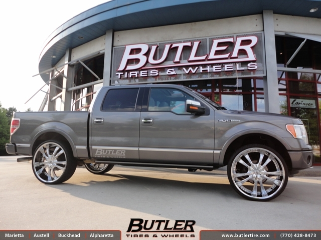Ford F150 with 28in Lexani LSS55 Wheels