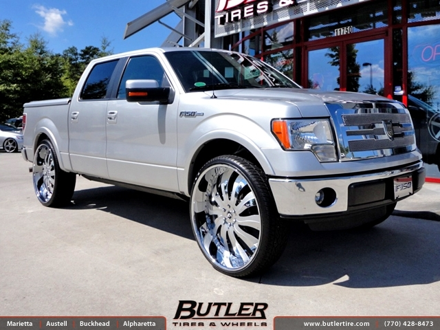 Ford F150 with 30in Forgiato Inferno Wheels