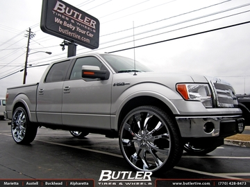 Ford F150 with 30in Lexani Lust Wheels