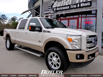 Ford F250 with 20in Fuel Krank Wheels