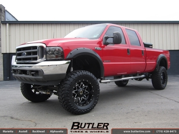 Ford F250 with 20in Fuel Lethal Wheels