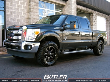 Ford F250 with 20in Fuel Maverick Wheels