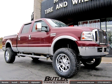 Ford F250 with 20in Fuel Throttle Wheels