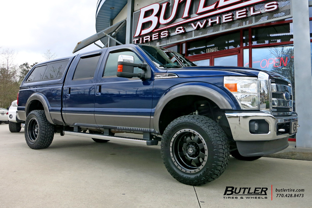 Ford F250 with 20in Fuel Trophy Wheels