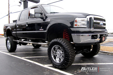 Ford F250 with 20in Moto Metal 951 Wheels