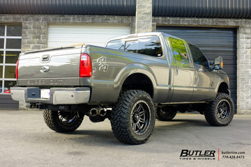 Ford F250 with 22in Fuel Hostage II Wheels